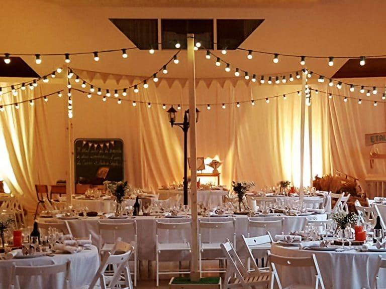 Location de guirlande guinguette en Aveyron à Rodez pour mariage, baptême et anniversaires
