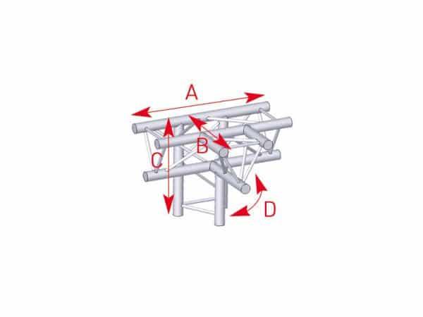 Angle 4 départs - Location de structures métalliques en Aveyron