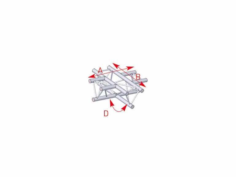 Angle 4 départs plat - Location de structures métalliques en Aveyron
