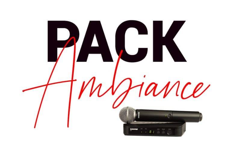 PACK AMBIANCE - Location de matériel sonorisation pour évènements jusqu'à 100 personnes